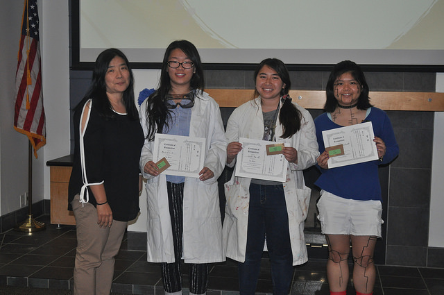 "First Place: ""Two Researchers and a Robot"" Mariah Bonifacio Wenjing Fu Sienna Wong"